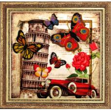 112 Привет из Италии. Butterfly. Набор для вышивания бисером