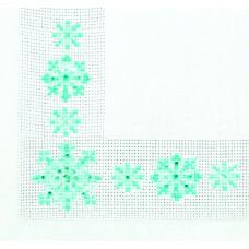 СКС-017 Серветка. Сніжинки. Чарівна Мить. Набір прикрашаємо вишивку стразами