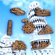 05D Італія. Butterfly. Набір декоративних гудзиків