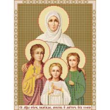 C910 Святі Мучениці Віра, Надія, Любов та матір їх Софія. Вертоградъ. Схема на тканини для вышивани