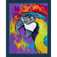 TL33 Попугай. Quick Tapestry. Набор для вышивания нитками на канве с нанесенным рисунком