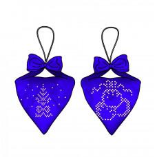В-016 Пендибуль новорічний синій. Тела Артіс. Схема для вишивання бісером