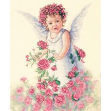 4327 Ангел троянд. Classic Design. Набір для вишивання нитками