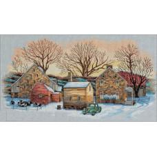 4494 Зима на фермі. Classic Design. Набір для вишивки хрестом