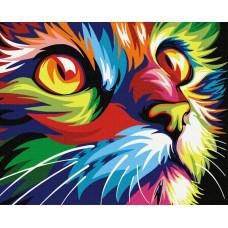 50007 Райдужний кіт. Dream Art. Набір для малювання картини за номерами