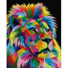50010 Райдужний лев. Dream Art. Набір для малювання картини за номерами