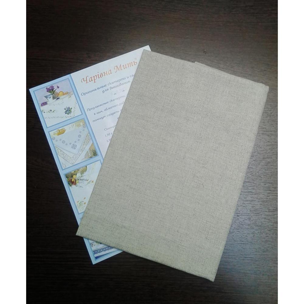 6.2 ТДК-9 2/1 (1,45х1,45) льон Скатертину з місцем для вишивки 145х145 см, 100% бавовна, Білорусь, тканина для вишивки хрестиком