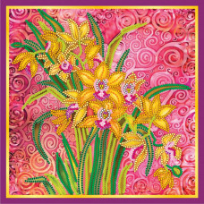 AC-056 Рожевий шарм. Абрис Арт. Схема на полотні для вишивання бісером (АС-056)