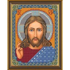 БИС9001 Христос Спаситель. Новая Слобода. Рисунок на ткани для вышивания бисером