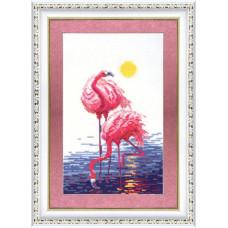 151 Рожевий фламінго. Чарівна Мить. Набір для вишивання нитками
