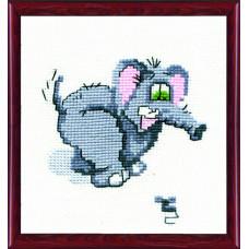 214 Слон і миша. Чарівна Мить. Набір для вишивання нитками