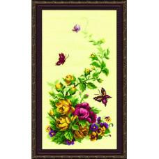 215 Триптих.Польові квіти. Чарівна Мить. Набір для вишивання нитками