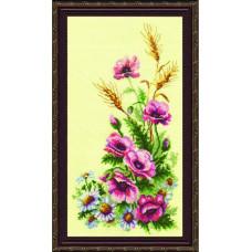 231 Триптих.Польові квіти. Чарівна Мить. Набір для вишивання нитками