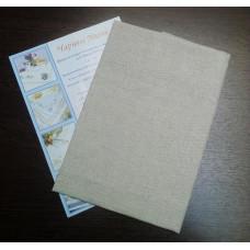 9.2 ТВШ-6 2/1 (0,72х0,72) льон Серветка з місцем для вишивки 72х72 см, 100% бавовна, Білорусь, тканина для вишивки хрестиком