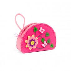 97063-1 Косметичка Розовое цветение. Идейка. Набор для шитья из фетра
