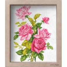 АМ 3512 Троянди. Повна скриня. Канва з нанесеним малюнком