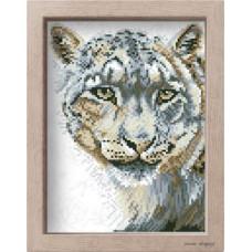 АМ 3524 Білий тигр. Повна Скриня. Канва з нанесеним малюнком