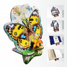 APM-02 Бабочка и Лилии. Подставка под мобильный телефон. ArtSolo. Набор алмазной живописи