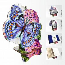 APM-03 Бабочка и Гортензия. Подставка под мобильный телефон. ArtSolo. Набор алмазной живописи