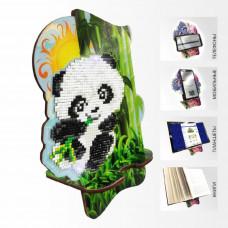 APM-06 Пандочка в бамбуковой роще. Подставка под мобильный телефон. ArtSolo. Набор алмазной живописи
