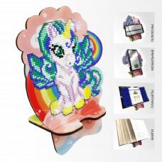 APM-07 Единорожек  на радуге. Подставка под мобильный телефон. ArtSolo. Набор алмазной живописи