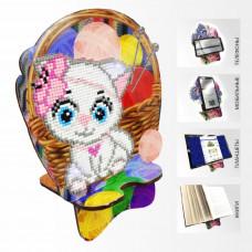 APM-08 Кошечка Рукодельница. Подставка под мобильный телефон. ArtSolo. Набор алмазной живописи