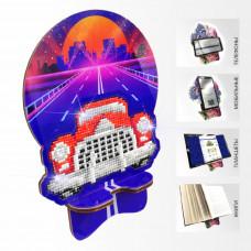 APM-10 Ретроавтомобиль. Подставка под мобильный телефон. ArtSolo. Набор алмазной живописи