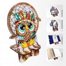 APM-11 Совушка. Ловец снов. Подставка под мобильный телефон. ArtSolo. Набор алмазной живописи