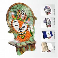APM-12 Лисенок. Ловец снов. Подставка под мобильный телефон. ArtSolo. Набор алмазной живописи
