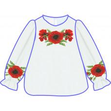АСД-017Ма Сорочка для дівчинки, 2-6 років (атлас). Rainbow Beads. Заготовка для вишивки нитками або бісером