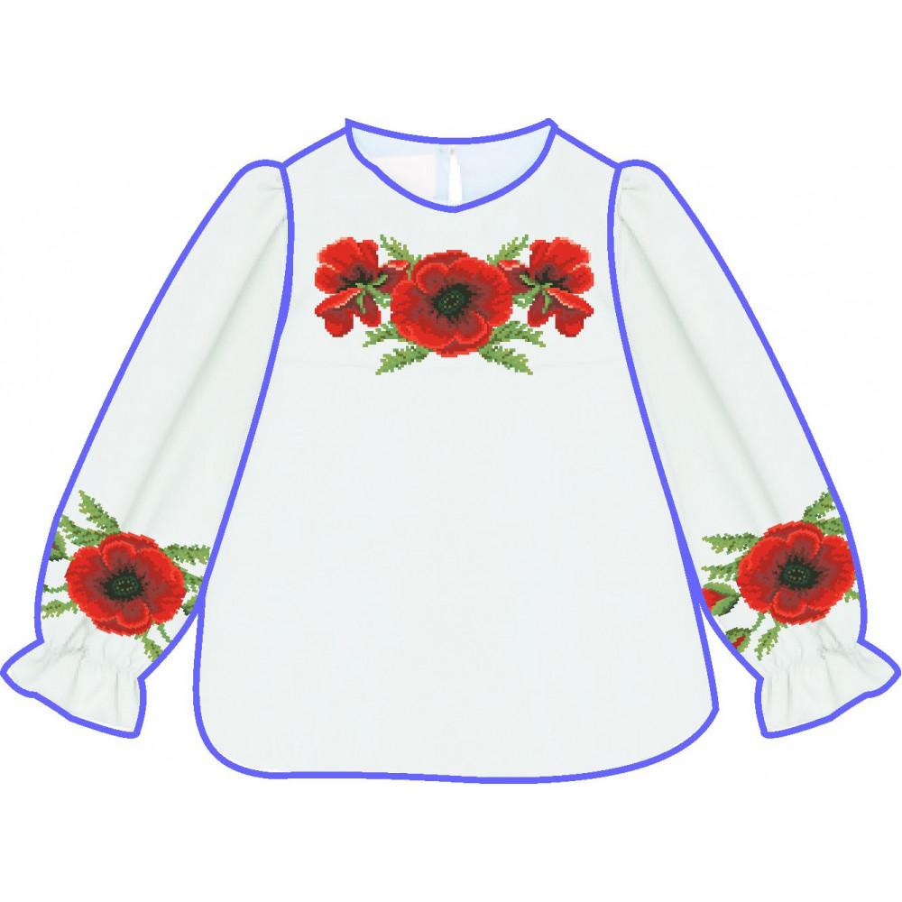 АСД-017Мл Сорочка для дівчинки, 2-6 років (льон). Rainbow Beads. Заготовка для вишивки нитками або бісером