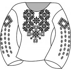 АСД-022Мл Сорочка для дівчинки, 2-6 років (льон). Rainbow Beads. Заготовка для вишивки нитками або бісером