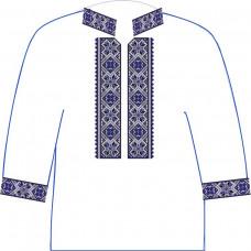АСД-10Аа Чоловіча сорочка (атлас-коттон). Rainbow beads. Заготовка для вишивки нитками або бісером