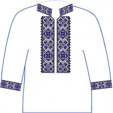 АСД-10Бл Хлопчачий лляна сорочка 6-12 років. Rainbow beads. Заготовка для вишивки нитками або бісером