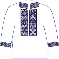 АСД-10Вл Хлопчачий лляна сорочка 2-6 років. Rainbow beads. Заготовка для вишивки нитками або бісером