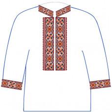 АСД-11Аа Чоловіча сорочка (атлас-коттон). Rainbow beads. Заготовка для вишивки нитками або бісером
