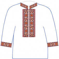 АСД-11Аг Чоловіча сорочка (габардин). Rainbow beads. Заготовка для вишивки нитками або бісером