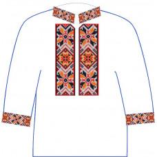 АСД-11Вл Хлопчачий лляна сорочка 2-6 років. Rainbow beads. Заготовка для вишивки нитками або бісером