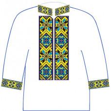АСД-12Вл Хлопчачий лляна сорочка 2-6 років. Rainbow beads. Заготовка для вишивки нитками або бісером