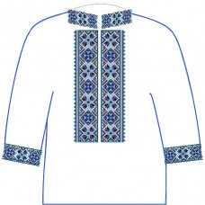 АСД-13Аа Чоловіча сорочка (атлас-коттон). Rainbow beads. Заготовка для вишивки нитками або бісером
