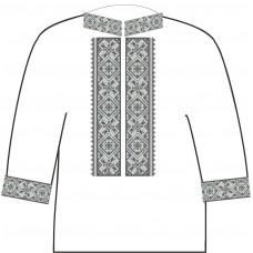 АСД-14Аа Чоловіча сорочка (атлас-коттон). Rainbow beads. Заготовка для вишивки нитками або бісером