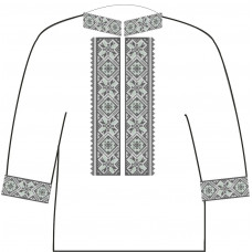 АСД-14Аг Чоловіча сорочка (габардин). Rainbow beads. Заготовка для вишивки нитками або бісером