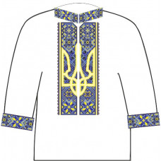 АСД-15Аа Чоловіча сорочка (атлас-коттон). Rainbow beads. Заготовка для вишивки нитками або бісером