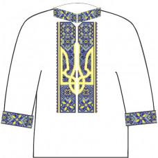 АСД-15Ал Чоловіча лляна сорочка. Rainbow beads. Заготовка для вишивки нитками або бісером