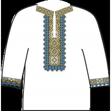 АСД-19Аг Чоловіча сорочка (габардин). Rainbow beads. Заготовка для вишивки нитками або бісером