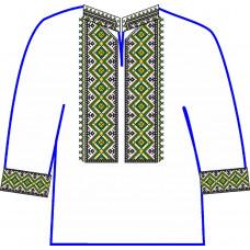 АСД-20Ба Сорочка для хлопчика, 6-12 років (атлас). Rainbow Beads. Заготовка для вишивки нитками чи бісером