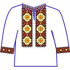 АСД-23Ва Сорочка для хлопчика, 2-6 років (атлас-коттон). Rainbow beads. Заготовка для вишивки нитками або бісером