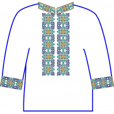 АСД-25Ад Чоловіча сорочка (домоткане полотно). Rainbow beads. Заготовка для вишивки нитками або бісером