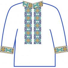 АСД-25Ба Сорочка для хлопчика, 6-12 років (атлас-коттон). Rainbow beads. Заготовка для вишивки нитками або бісером