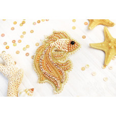 Б-010 Брошка Золота рибка. Тела Артіс. Набір для вишивки бісером
